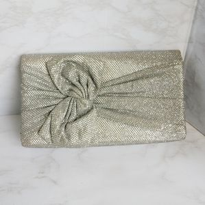 5/$15 Silver Button Front Evening Clutch